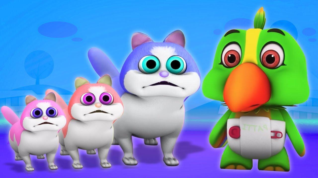 Tiga Anak Kucing Kecil Lagu Anak Kartun Anak Three Little