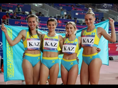 China win gold, Kazakhstan girls win hearts after finishing second in the 4x100m relay in Qatar