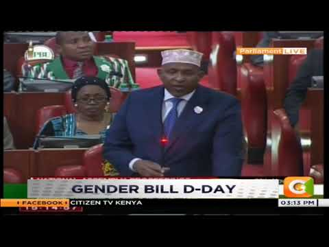 Majority Leader Aden Duale shelves gender bill