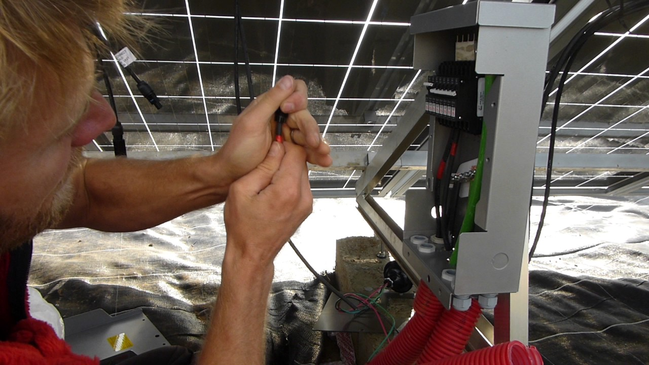 off grid diy home solar install p3 solar panels wiring mc4 connectors and dc breakers [ 1280 x 720 Pixel ]