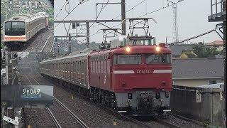 【配給輸送】EF81-141+武蔵野線205系M63編成「ジャカルタ