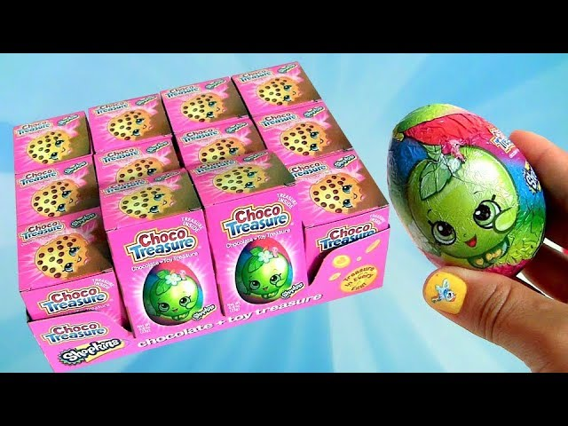 Surprise Chocolate Eggs Shopkins Choco Treasure Full Case 2017 Unboxing