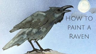 How to paint a raven - Halloween special