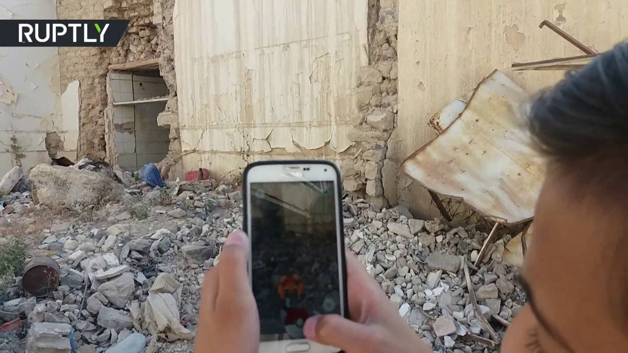 Syrian kids chase Pokémon in war-torn Aleppo