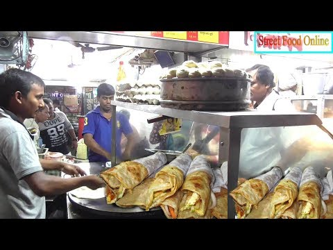 Egg Chicken Roll Shop Opposite Sealdah Station | Street Food Online | Indian Street Food 2017
