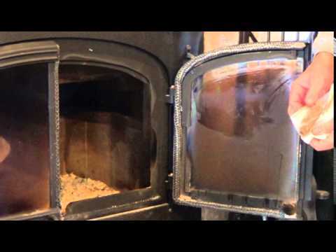 Cleaning Fireplace Glass - using water vinegar and wood ash. Just a quick tip for those with glass in your fireplace on how to clean off the burnt and baked ...