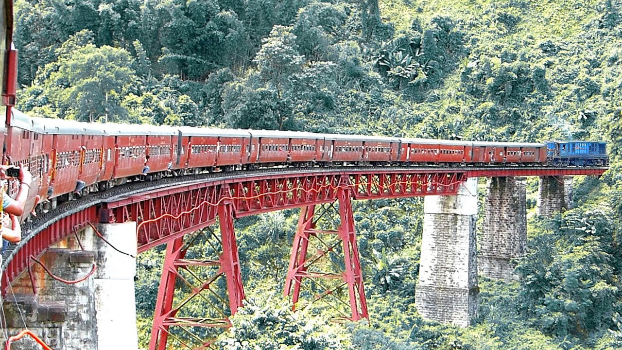 The Most Dangerous Scenic Rail Route In North East India Youtube