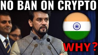 NO BAN ON CRYPTOCURRENCY IN INDIA | WHY ? (CRYPTO BILL UPDATE)