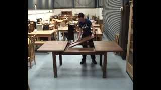 Dark American Walnut Lichfield Dining Table Chair Set