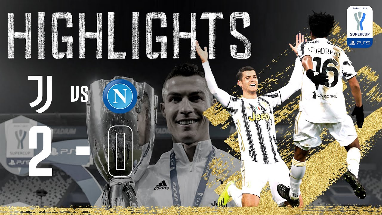 Ronaldo Morata Goals Secure 9th Super Cup Juventus 2 0 Napoli Supercoppa Italiana Final Youtube