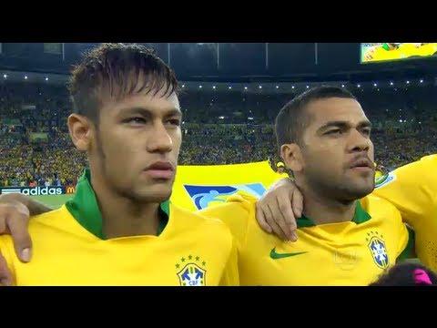 Hino Nacional Brasileiro - Jogo Brasil x Espanha no Maracaña 30/06/2013