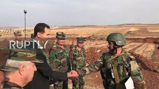 Syria: Assad visits Syrian Arab Army troops in Idlib province