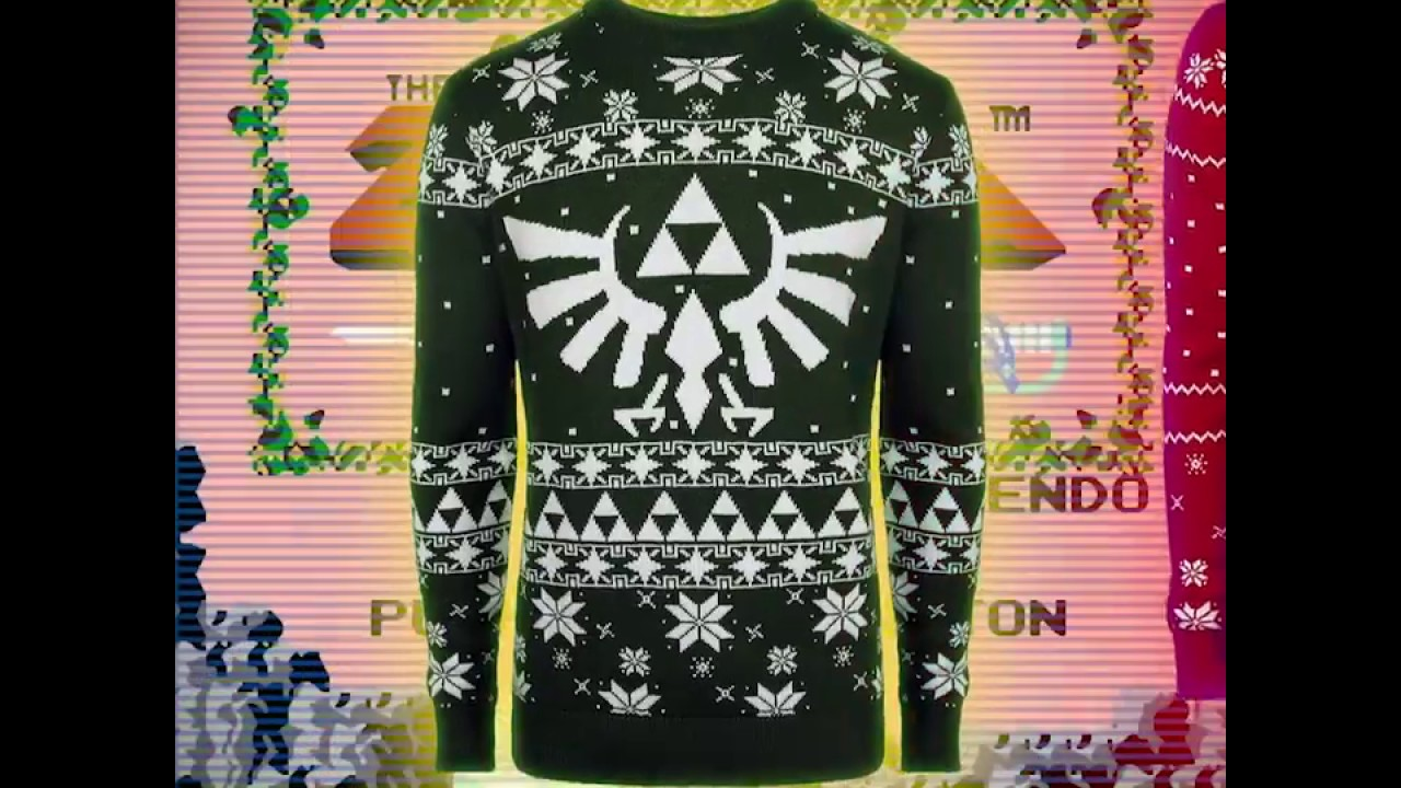 100% KNITTED Official Nintendo Christmas Sweaters (Zelda/Mario ...