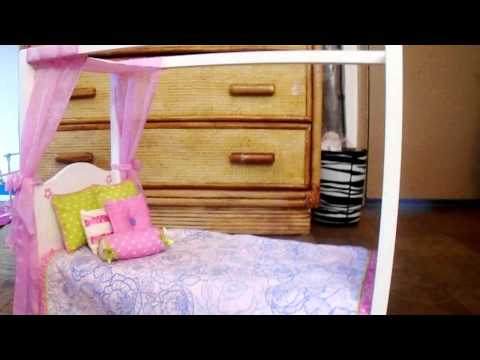 Julie's Canopy Bed From American Girl Vs. Canopy Bed From Our Generation
