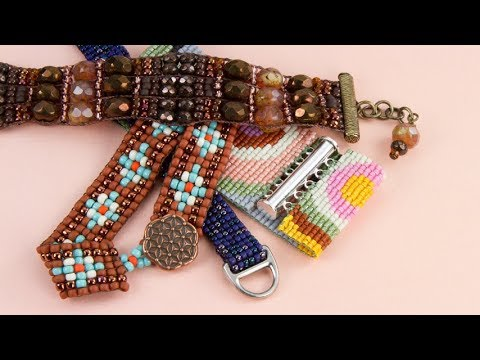 Artbeads Tutorial - Loomed Bracelet Closures with Cheri Carlson