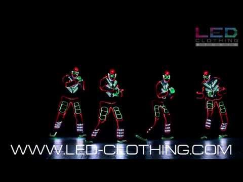 Fiber Optics Neon Tron LED suits with DMX control
