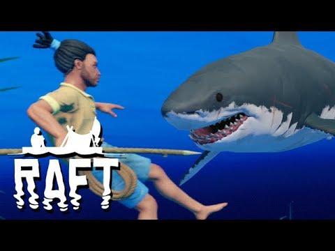 RAFT Vollversion Gameplay German - Mit Anker das Meer anhalten