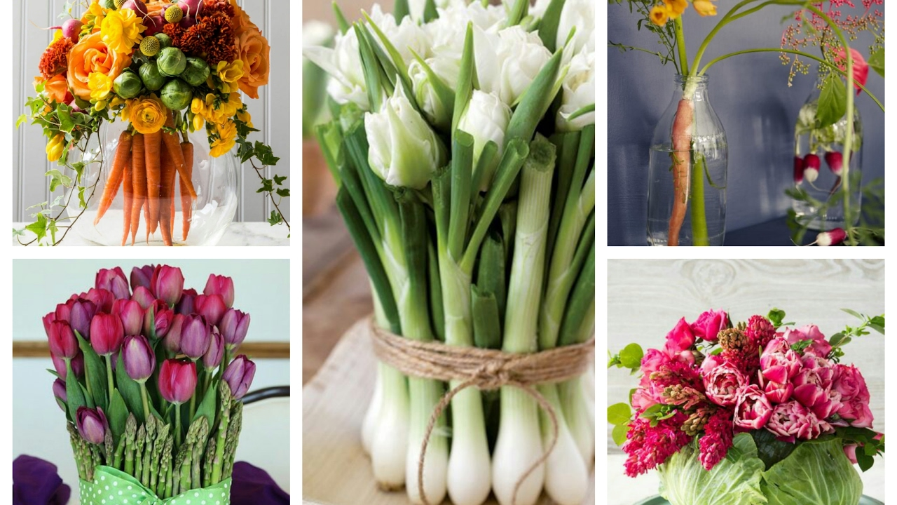 Spring Flower And Veggie Arrangements Ideas Vegetable Centerpieces