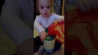 2 year old with Down Syndrome Learns about colors
