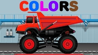 Learn colors with Dump Truck Car Wash - Colours for Children