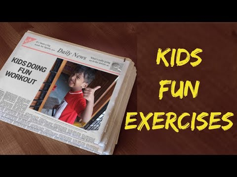 Kids doing Fun Workout|Aerobic Exercise at Home to lose weight for kids|Funny kids doing Funny stuff