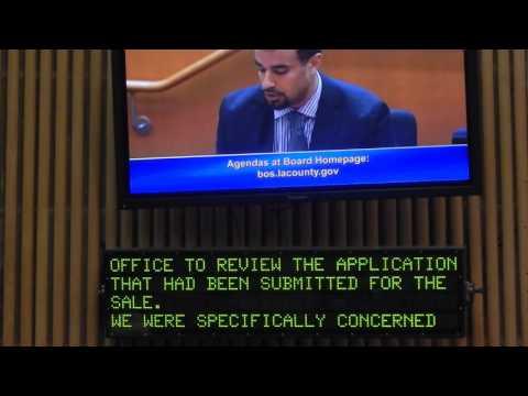 Sean Fleming, Jr testifies before the borad of supervisor of LA  County