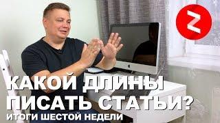 Итоги 6 недели в Яндекс Дзен. Почему упали показы? Какой длины писать статьи? Заработок отзыв 2019