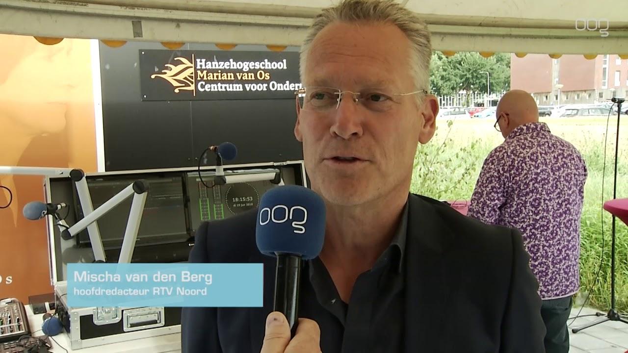 Nieuw gebouw OOG Radio en Tv geopend door burgemeester