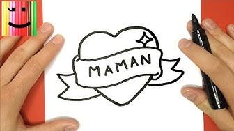 "COMMENT DESSINER UN COEUR AVEC UN RUBAN ""MAMAN"" - TUTO DESSIN"