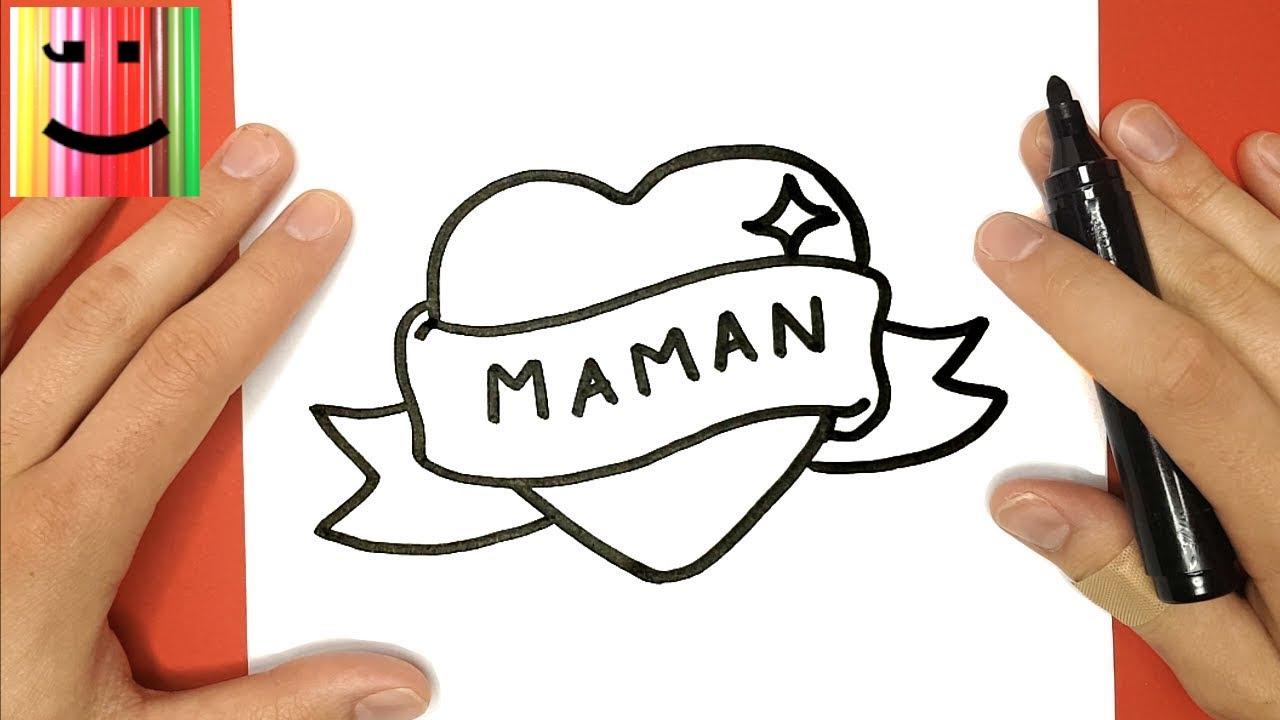 Comment Dessiner Un Coeur Avec Un Ruban Maman Tuto Dessin Youtube