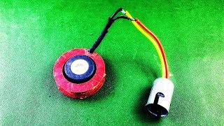 Free Energy Light Bulb with Magnet using DC Motor Generator Homemade Science Project