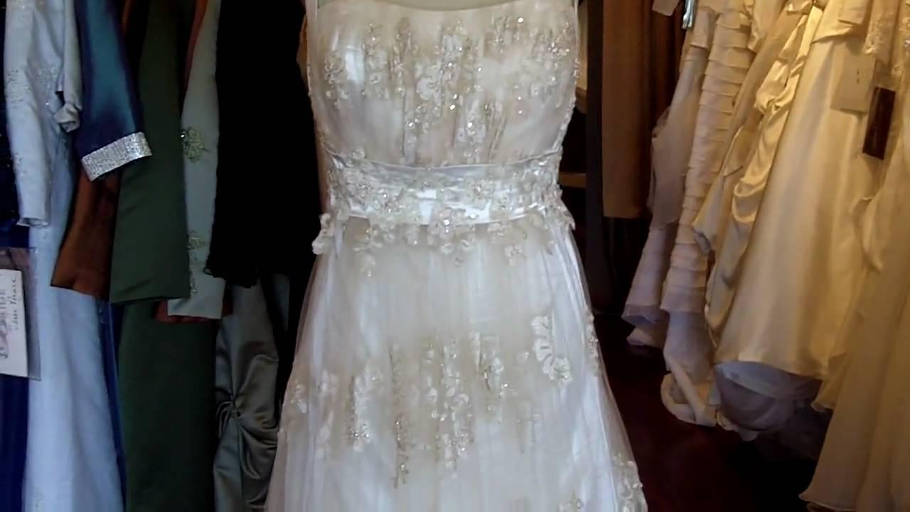Light Gold Wedding Dress from Wedding Dress Fantasy - YouTube