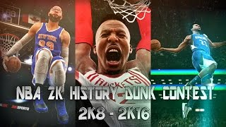 Nba 2k history slam dunk contest of (2k8 - 2k16) ᴴᴰ
