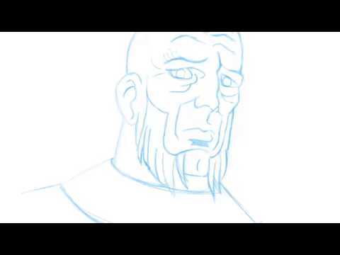 Silver Surfer Face Drawing Practice 13
