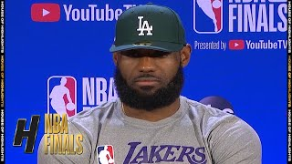 LeBron James Postgame Interview - Game 2 | Heat vs Lakers | October 2, 2020 NBA Finals