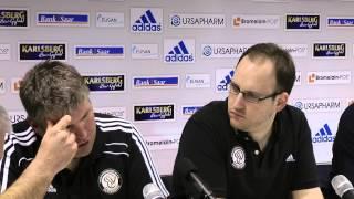 SV Elversberg vs. SV Waldhof Mannheim 07  Pressekoferenz 22. Spieltag 12/13
