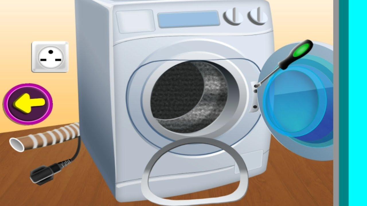 Kids Learn Repair Washing Machine Youtube