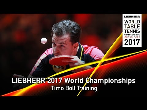 2017 World Championships   Timo Boll Training