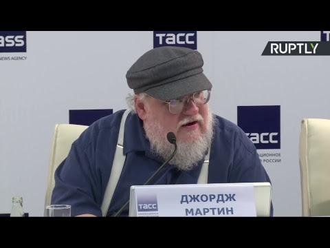 Пресс-конференция автора «Игры престолов» Джорджа Мартина в Санкт-Петербурге