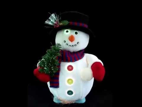 animated fiber optic snowman - Fiber Optic Snowman Christmas Decorations