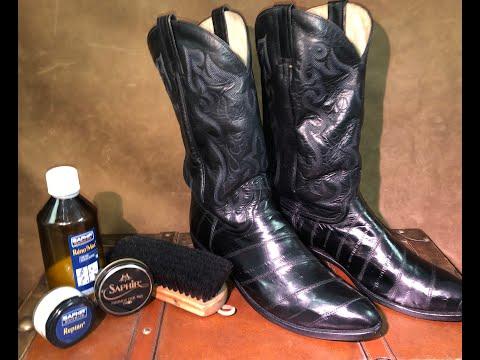 Dan Post Boots How to Treat Eel Skin Upper