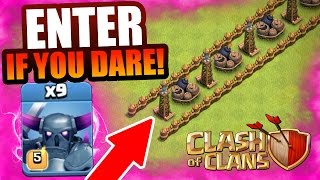 Clash Of Clans - IMMORTAL PEKKA TROLL BASE!! - THEY CANT BE STOPPED!
