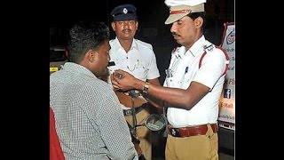 Chennai Traffic police booked 120 cases of drunk driving on Sunday