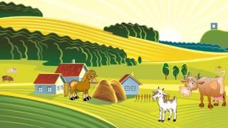 Животные на ферме. Мультик для детей. Изучаем животных и их звуки