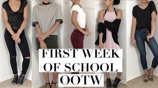 FIRST WEEK OF SCHOOL OOTW 2016 // OUTFIT IDEAS