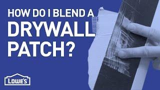 How Do I Blend A Drywall Patch? | DIY Basics