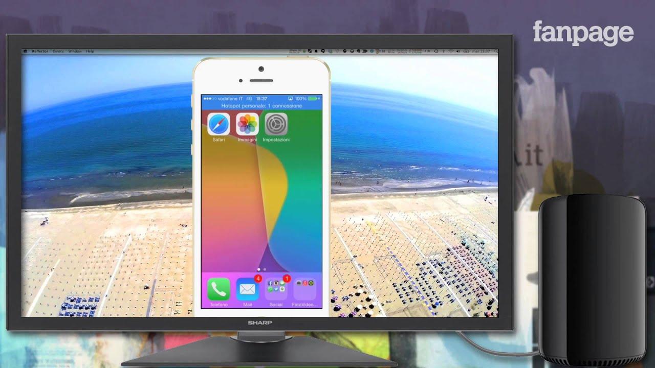schermo iphone su mac condiviso