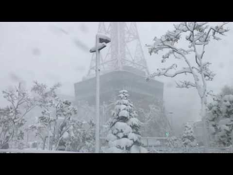 Sapporo, Hokkaido 2016 November 6, the day of this year's first heavy snow. Drive around city.