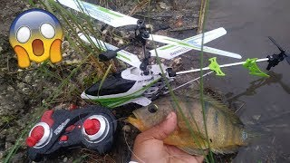 RC HELICOPTER FISHING!!! Monster Mike