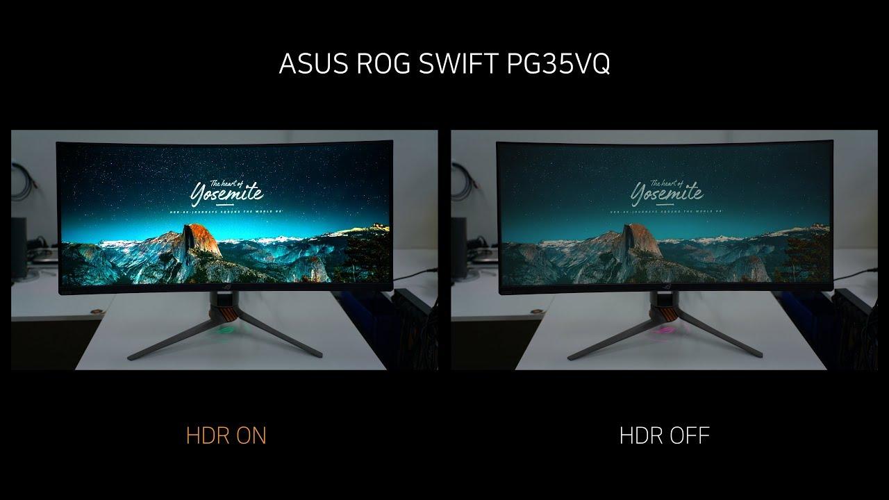 HDR Video - ASUS ROG SWIFT PG35VQ